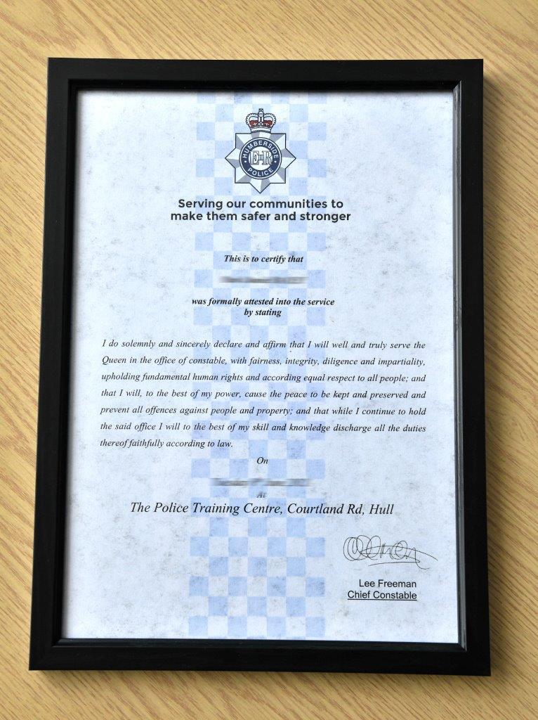 Attestation certificate