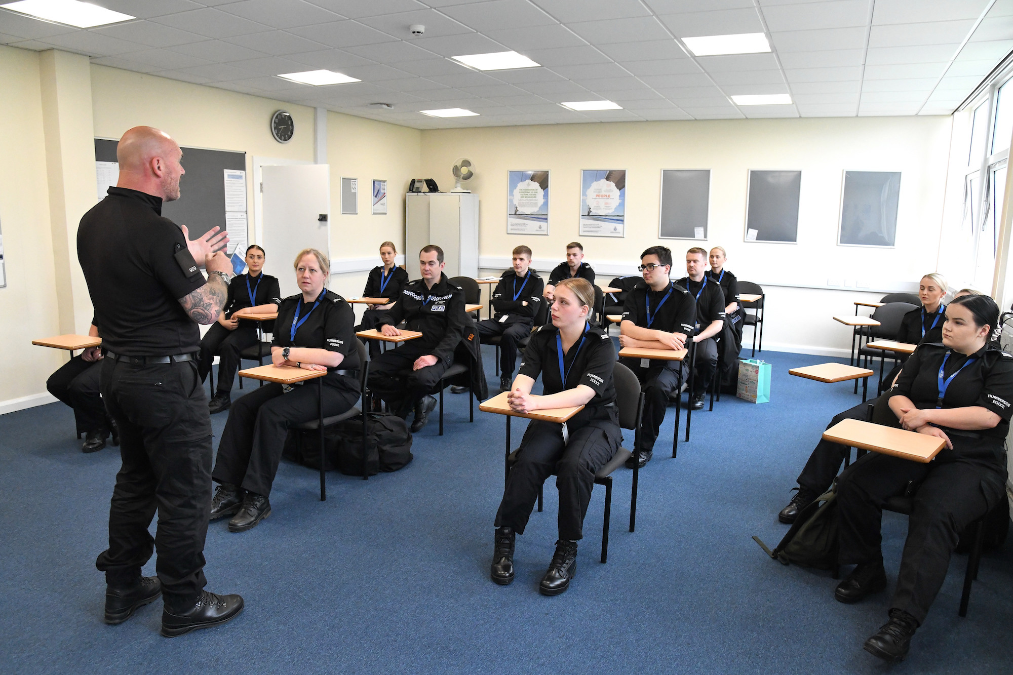Special constables in a training classroom